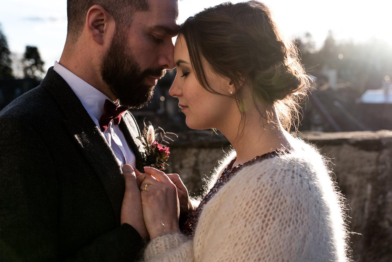 Photo de couple amoureux mariage
