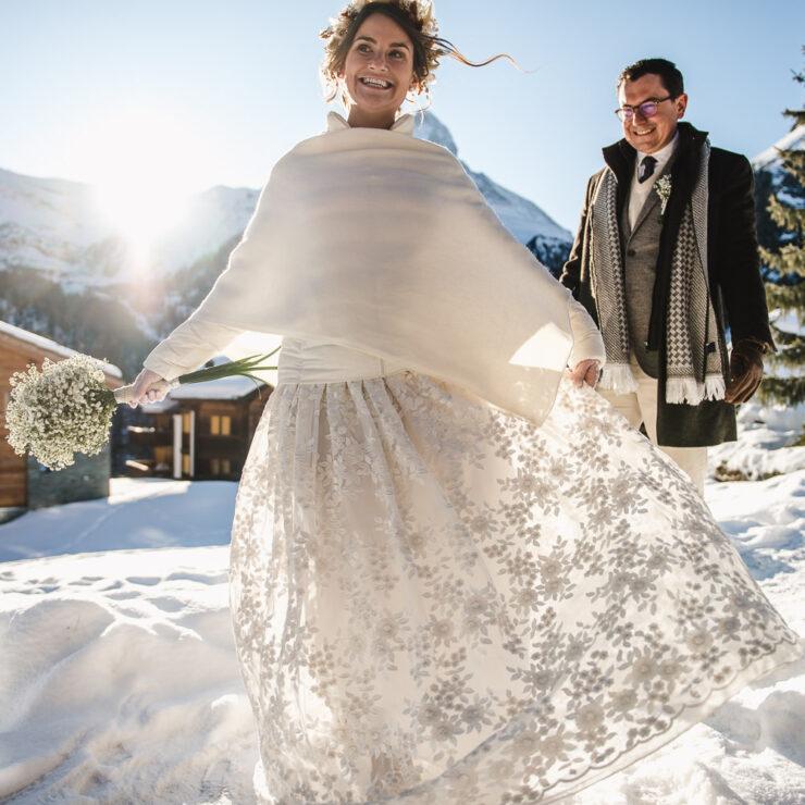 Mariee devant le Cervin Zermatt